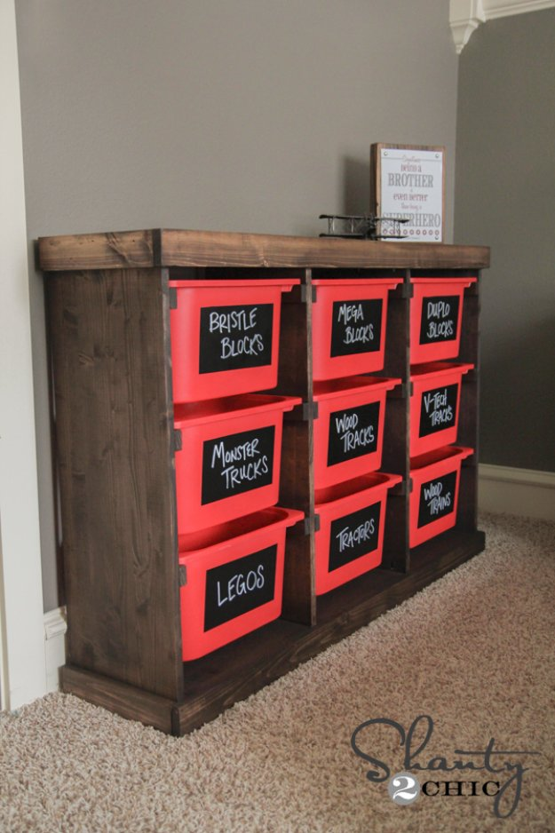 DIY Storage Ideas - DIY Storage Idea From Ikea's Trofast Baskets - Home Decor and Organizing Projects for The Bedroom, Bathroom, Living Room, Panty and Storage Projects - Tutorials and Step by Step Instructions for Do It Yourself Organization #diy