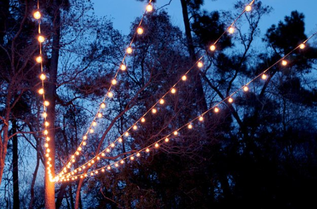 DIY Porch and Patio Ideas - DIY String Lights Canopy - Decor Projects and Furniture Tutorials You Can Build for the Outdoors -Swings, Bench, Cushions, Chairs, Daybeds and Pallet Signs