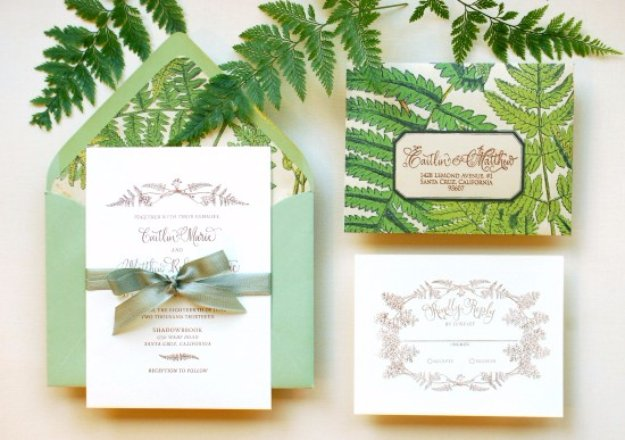 27 fabulous diy wedding invitation ideas diy wedding invitiations diy tutorial fern wedding invitations templates free printables and wording solutioingenieria Image collections