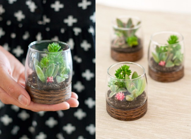 Succulents Crafts and DIY Projects - DIY Wood Based Succulent Terrariums - How To Make Fun, Beautiful and Cool Succulent Cactus Wedding Favors, Centerpieces, Mason Jar Ideas, Flower Pots and Decor #crafts #succulents #gardening