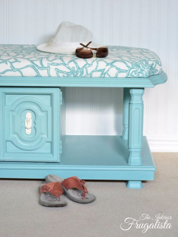 DIY Chalk Paint Furniture Ideas With Step By Step Tutorials - Duck Egg Blue Coffee Table Bench - How To Make Distressed Furniture for Creative Home Decor Projects on A Budget - Perfect for Vintage Kitchen, Dining Room, Bedroom, Bath #diyideas #diyfurniture