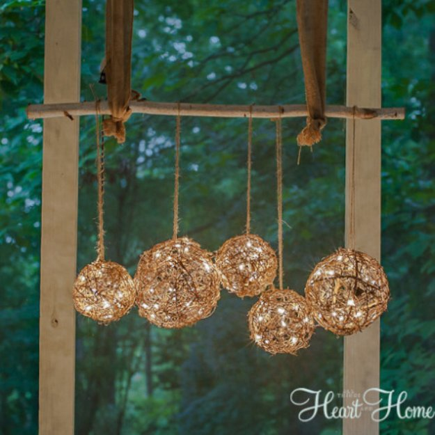 DIY Porch and Patio Ideas - Easy DIY Porch Light - Decor Projects and Furniture Tutorials You Can Build for the Outdoors -Swings, Bench, Cushions, Chairs, Daybeds and Pallet Signs