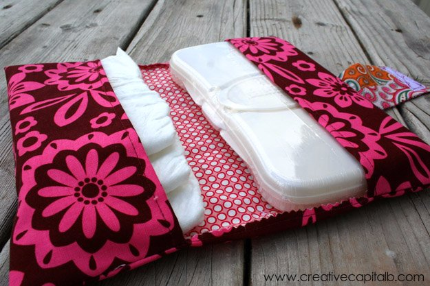 Easy Sewing Projects to Sell - Easy Diaper and Wipes Carrier - DIY Sewing Ideas for Your Craft Business. Make Money with these Simple Gift Ideas, Free Patterns #sewing #crafts