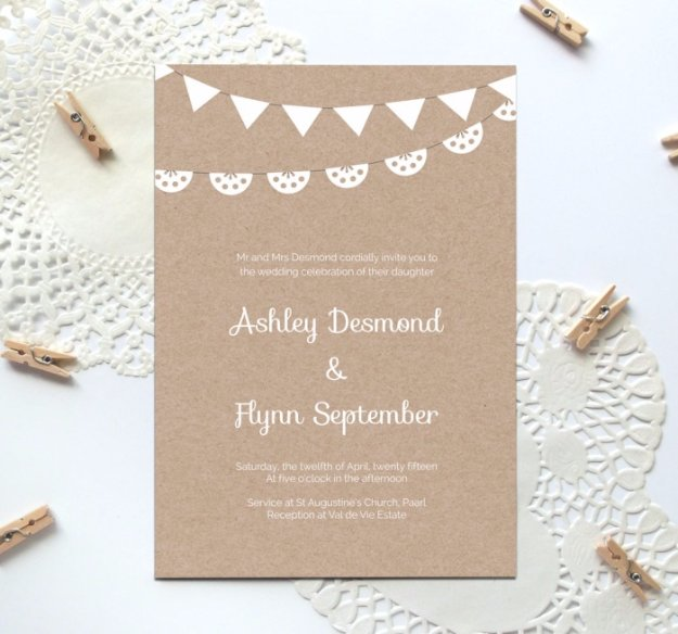 DIY Wedding Invitiations - Elegant Kraft Paper Wedding Invitation - Templates, Free Printables and Wording | Tutorials for Unique, Rustic, Elegant and Vintage Homemade Invites #weddinginvitations #diyweddings