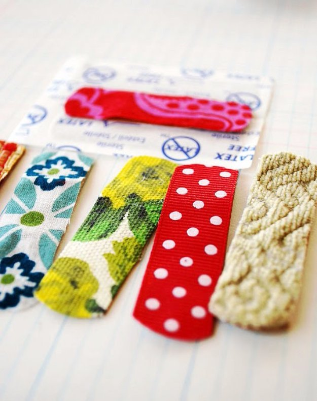 Cool Crafts You Can Make With Fabric Scraps - Fabric Band-Aids - Creative DIY Sewing Projects and Things to Do With Leftover Fabric Scrap Crafts #sewing #fabric #crafts