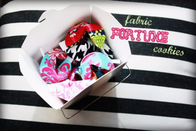 Cool Crafts You Can Make With Fabric Scraps - Fabric Fortune Cookies - Creative DIY Sewing Projects and Things to Do With Leftover Fabric Scrap Crafts #sewing #fabric #crafts