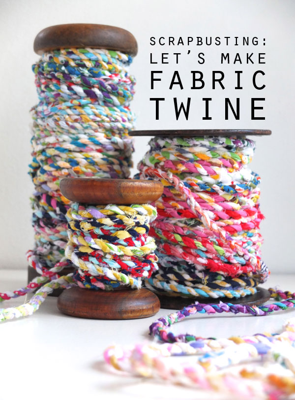Cool Crafts You Can Make With Fabric Scraps - Fabric Scrap Twine - Creative DIY Sewing Projects and Things to Do With Leftover Fabric Scrap Crafts #sewing #fabric #crafts