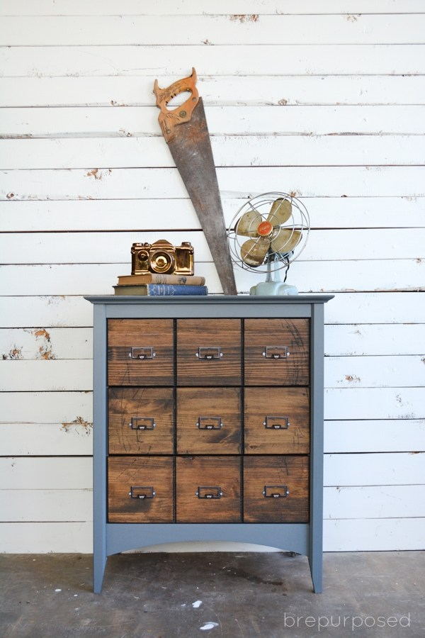 DIY Chalk Paint Furniture Ideas With Step By Step Tutorials - Faux Card Catalog - How To Make Distressed Furniture for Creative Home Decor Projects on A Budget - Perfect for Vintage Kitchen, Dining Room, Bedroom, Bath #diyideas #diyfurniture