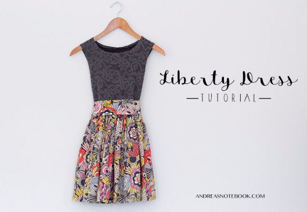 DIY Sewing Gift Ideas for Adults and Kids, Teens, Women, Men and Baby - Gorgeous Liberty Dress Tutorial - Cute and Easy DIY Sewing Projects Make Awesome Presents for Mom, Dad, Husband, Boyfriend, Children #sewing #diygifts #sewingprojects