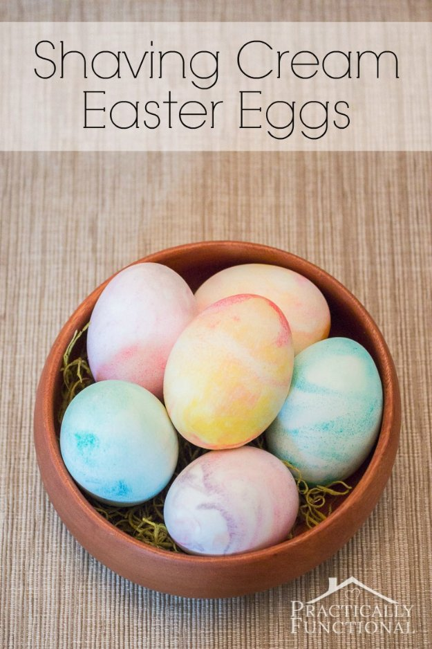 Easter Egg Decorating Ideas - How to Make Shaving Cream Easter Eggs - Creative Egg Dye Tutorials and Tips - DIY Easter Egg Projects for Kids and Adults