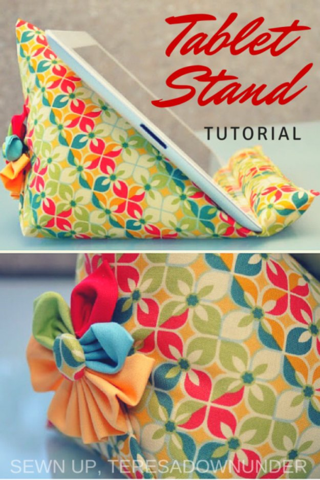 Easy Sewing Projects to Sell - Ipad Stand Tutorial - DIY Sewing Ideas for Your Craft Business. Make Money with these Simple Gift Ideas, Free Patterns #sewing #crafts