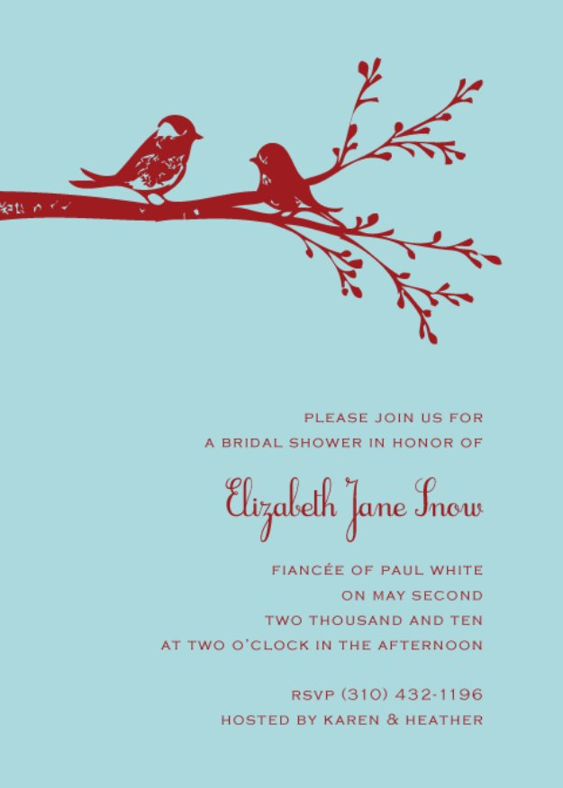 DIY Wedding Invitiations - Love Bird Wedding Invitation - Templates, Free Printables and Wording | Tutorials for Unique, Rustic, Elegant and Vintage Homemade Invites #weddinginvitations #diyweddings