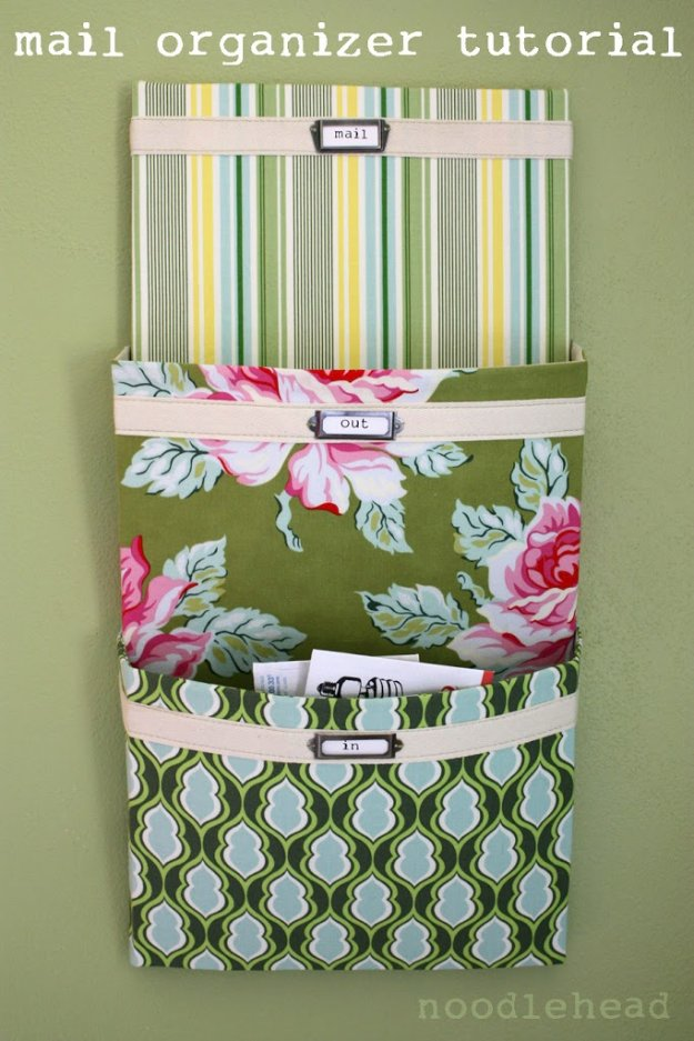 DIY Sewing Gift Ideas for Adults and Kids, Teens, Women, Men and Baby - Mail Organizer - Cute and Easy DIY Sewing Projects Make Awesome Presents for Mom, Dad, Husband, Boyfriend, Children #sewing #diygifts #sewingprojects