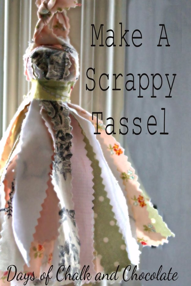 Cool Crafts You Can Make With Fabric Scraps - Make a Scrappy Tassel - Creative DIY Sewing Projects and Things to Do With Leftover Fabric Scrap Crafts #sewing #fabric #crafts