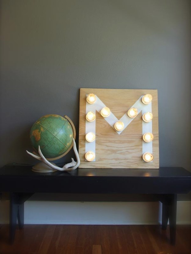 Mason Jar Lights - Mason Jar Monogram Light - DIY Ideas with Mason Jars for Outdoor, Kitchen, Bathroom, Bedroom and Home, Wedding. How to Make Hanging Lanterns, Rustic Chandeliers and Pendants, Solar Lights for Outside