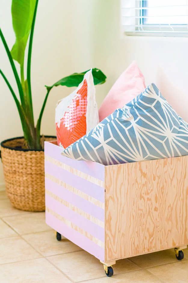 DIY Storage Ideas - Minimalist Wood Storage Bin- Home Decor and Organizing Projects for The Bedroom, Bathroom, Living Room, Panty and Storage Projects - Tutorials and Step by Step Instructions for Do It Yourself Organization #diy