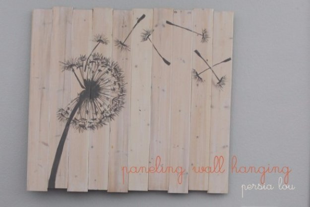DIY Pallet sign Ideas - Paneling Wall Hanging Art - Upcycled Pallet Art Cool Homemade Wall Art Ideas and Pallet Signs for Bedroom, Living Room, Patio and Porch. Creative Rustic Decor Ideas on A Budget