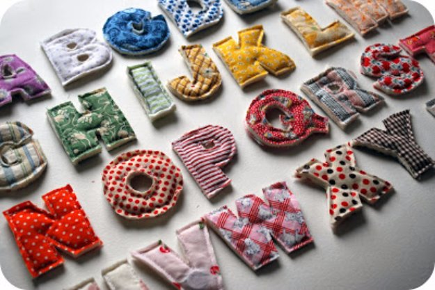 Cool Crafts You Can Make With Fabric Scraps - Plush Alphabet From Fabric Scraps - Creative DIY Sewing Projects and Things to Do With Leftover Fabric Scrap Crafts #sewing #fabric #crafts