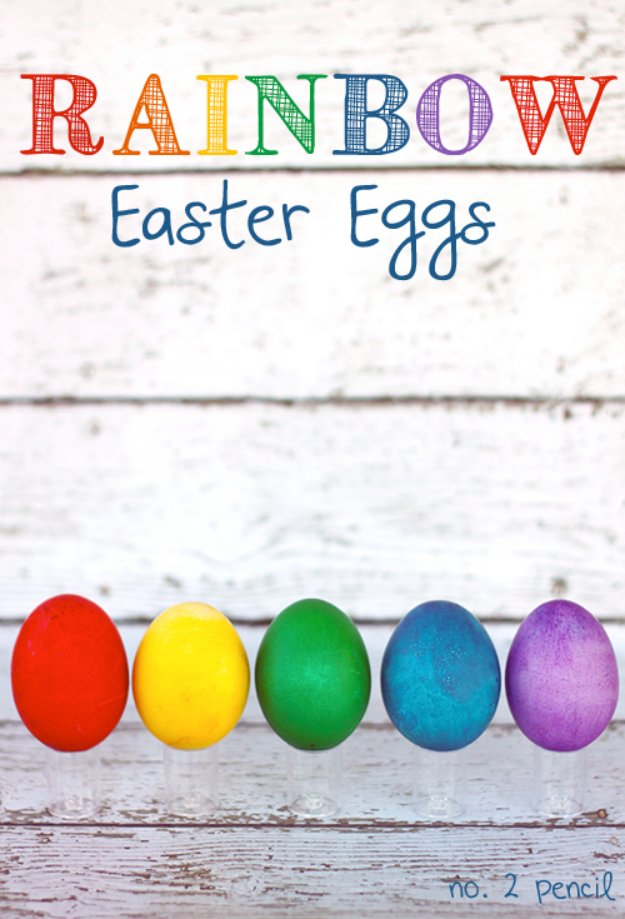 Easter Egg Decorating Ideas - Rainbow Easter Eggs the Easy Way - Creative Egg Dye Tutorials and Tips - DIY Easter Egg Projects for Kids and Adults http://diyjoy.com/easter-egg-decorating-ideas
