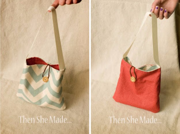 Easy Sewing Projects to Sell - Reversible and Reusable Gift Bag Tutorial - DIY Sewing Ideas for Your Craft Business. Make Money with these Simple Gift Ideas, Free Patterns, Products from Fabric Scraps, Cute Kids Tutorials http://diyjoy.com/sewing-crafts-to-make-and-sell
