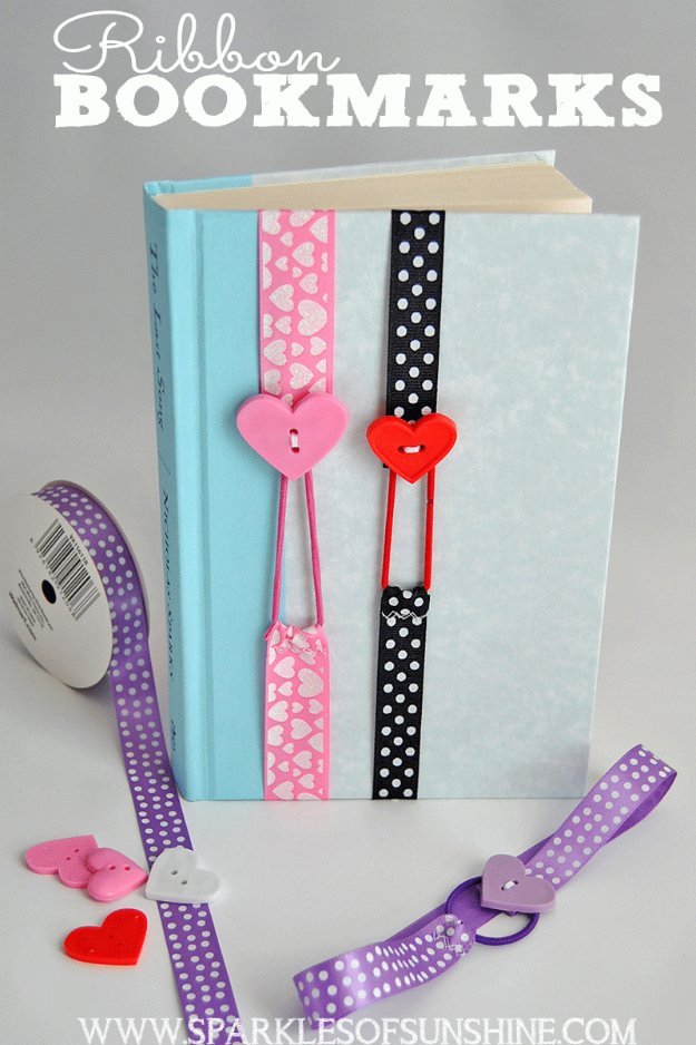 DIY Sewing Gift Ideas for Adults and Kids, Teens, Women, Men and Baby - Ribbon Bookmarks - Cute and Easy DIY Sewing Projects Make Awesome Presents for Mom, Dad, Husband, Boyfriend, Children #sewing #diygifts #sewingprojects