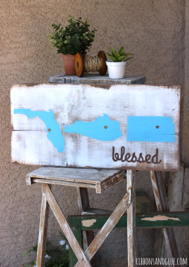 DIY Pallet sign Ideas -Rustic Blessed Sign - Upcycled Pallet Art Cool Homemade Wall Art Ideas and Pallet Signs for Bedroom, Living Room, Patio and Porch. Creative Rustic Decor Ideas on A Budget