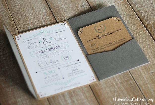 DIY Wedding Invitiations - Rustic Inspired Wedding Invitations - Templates, Free Printables and Wording | Tutorials for Unique, Rustic, Elegant and Vintage Homemade Invites #weddinginvitations #diyweddings