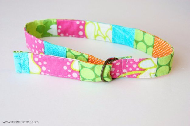 Cool Crafts You Can Make With Fabric Scraps - Scrap-Pieced Belt - Creative DIY Sewing Projects and Things to Do With Leftover Fabric Scrap Crafts #sewing #fabric #crafts