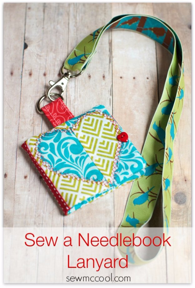 Easy Sewing Projects to Sell - Sew a Needlebook Lanyard - DIY Sewing Ideas for Your Craft Business. Make Money with these Simple Gift Ideas, Free Patterns #sewing #crafts