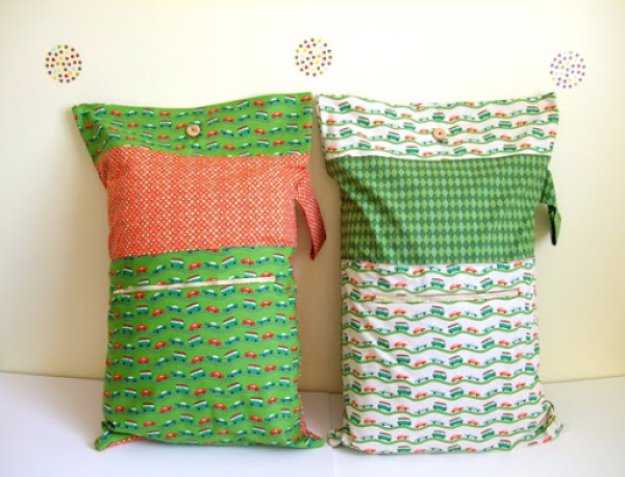 Easy Sewing Projects to Sell - Sleepover Pillowcase Tutorial - DIY Sewing Ideas for Your Craft Business. Make Money with these Simple Gift Ideas, Free Patterns #sewing #crafts