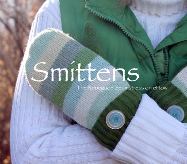 DIY Sewing Gift Ideas for Adults and Kids, Teens, Women, Men and Baby - Sweater Mittens - Cute and Easy DIY Sewing Projects Make Awesome Presents for Mom, Dad, Husband, Boyfriend, Children #sewing #diygifts #sewingprojects