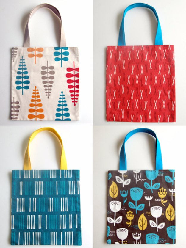 Sewing Projects to Make and Sell - How to Make a Quick Tote Bag With Pattern and Tutorial - Things to Sew and Sell on Etsy - DIY Projects to Sell for Profit - DIY Home Decor Ideas to Sew