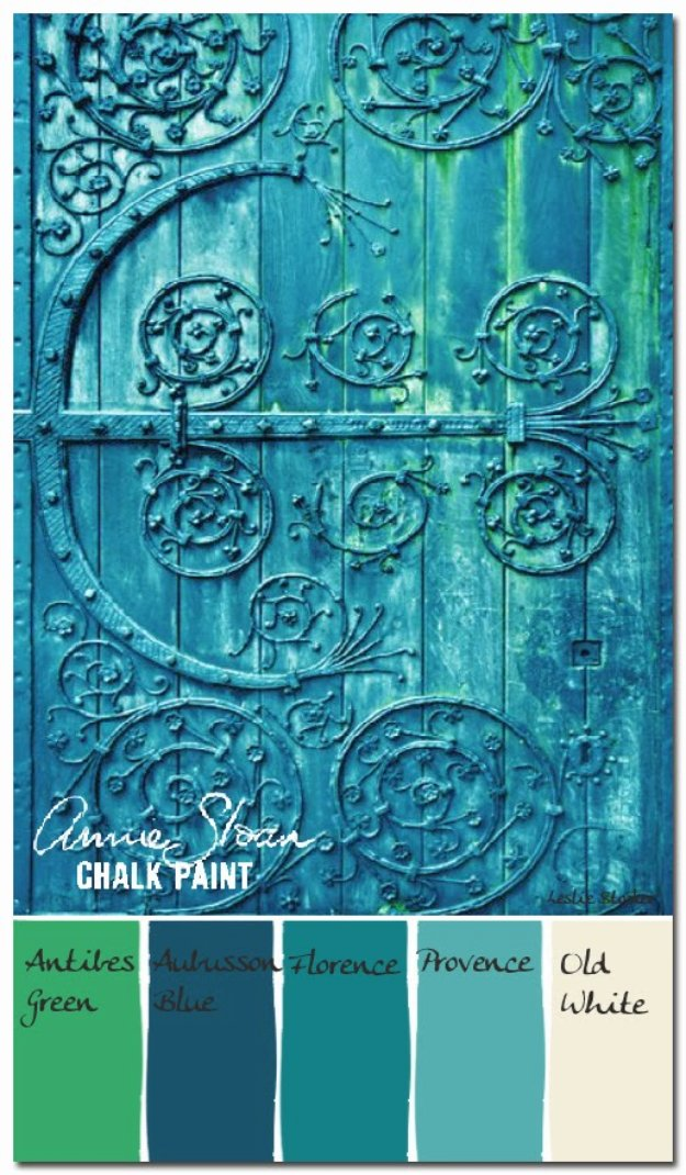 DIY Chalk Paint Furniture Ideas With Step By Step Tutorials - Verdigris Antique Door - How To Make Distressed Furniture for Creative Home Decor Projects on A Budget - Perfect for Vintage Kitchen, Dining Room, Bedroom, Bath #diyideas #diyfurniture
