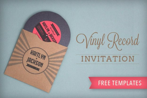 DIY Wedding Invitiations - Vinyl Record Wedding Invitation - Templates, Free Printables and Wording | Tutorials for Unique, Rustic, Elegant and Vintage Homemade Invites #weddinginvitations #diyweddings