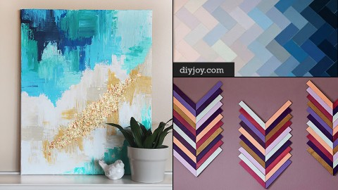 76 DIY Wall Art Ideas for Those Blank Walls | DIY Joy Projects and Crafts Ideas