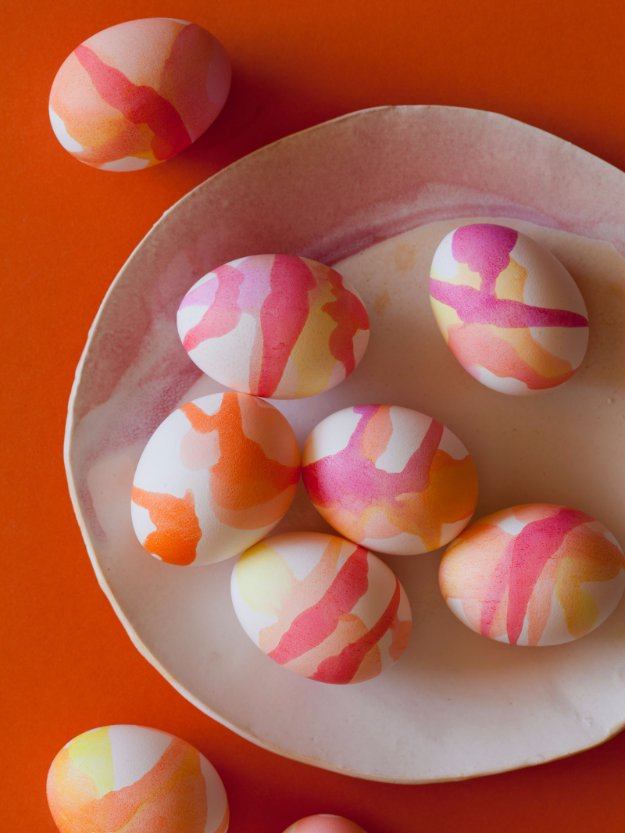 Easter Egg Decorating Ideas - Watercolor Easter Eggs - Creative Egg Dye Tutorials and Tips - DIY Easter Egg Projects for Kids and Adults