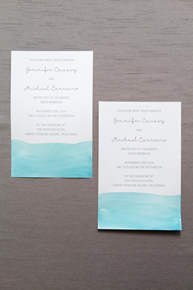 DIY Wedding Invitiations - Watercolor Wedding Invitations - Templates, Free Printables and Wording | Tutorials for Unique, Rustic, Elegant and Vintage Homemade Invites #weddinginvitations #diyweddings