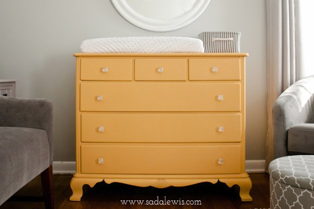 DIY Chalk Paint Furniture Ideas With Step By Step Tutorials - Yellow Chalk Paint Dresser - How To Make Distressed Furniture for Creative Home Decor Projects on A Budget - Perfect for Vintage Kitchen, Dining Room, Bedroom, Bath #diyideas #diyfurniture