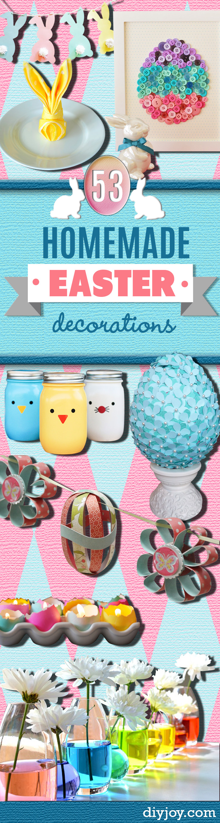DIY Easter Decorations - Easter Decor Ideas for the Home and Table - Cute Easter Wreaths, Cheap and Easy Dollar Store Crafts for Kids. Rustic Centerpieces and Mantel Decorations