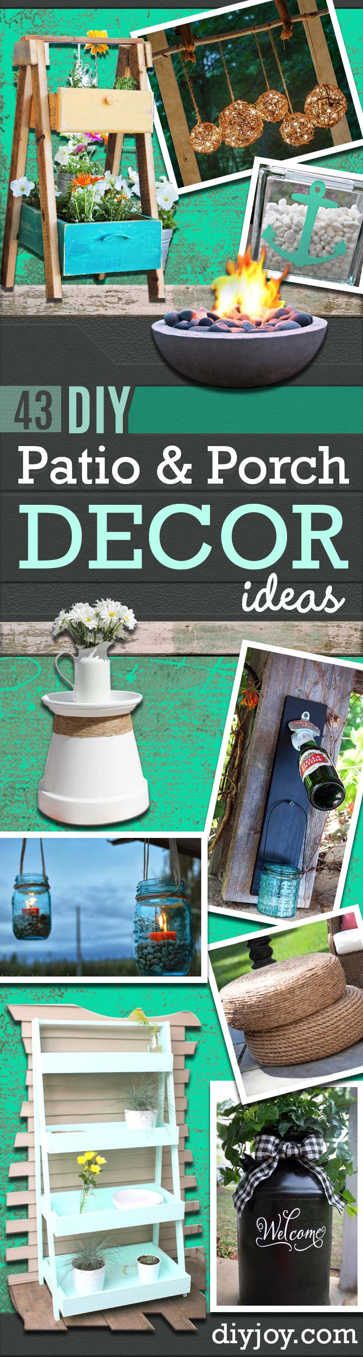 DIY Porch and Patio Ideas - Decor Projects and Furniture Tutorials You Can Build for the Outdoors -Swings, Bench, Cushions, Chairs, Daybeds and Pallet Signs