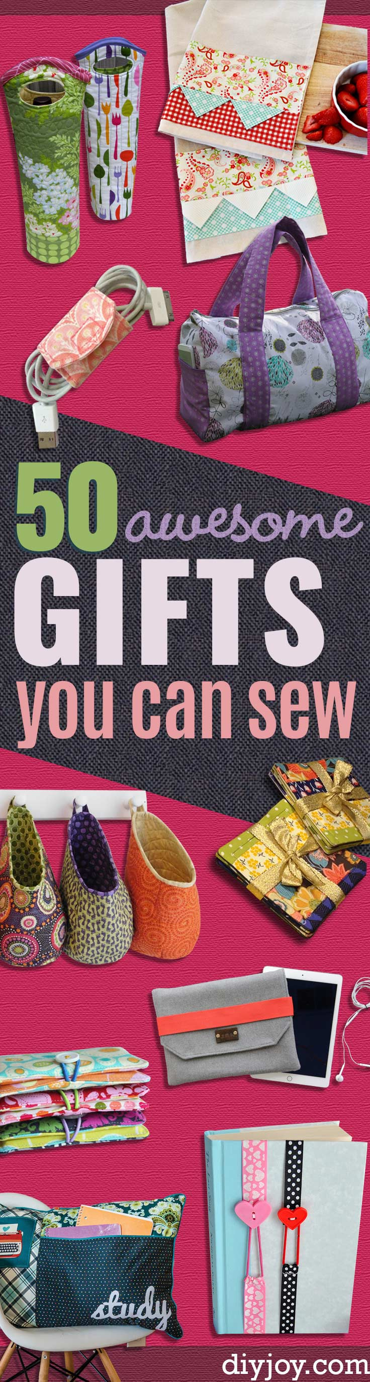 DIY Sewing Gift Ideas for Adults and Kids, Teens, Women, Men and Baby - Cute and Easy DIY Sewing Projects Make Awesome Presents for Mom, Dad, Husband, Boyfriend, Children