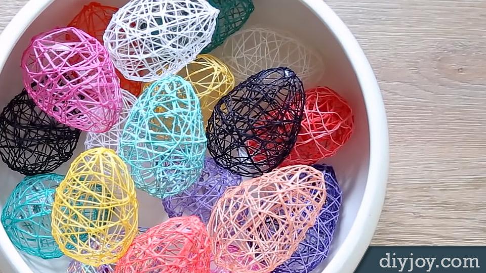 Diy Yarn Easter Eggs Decoration