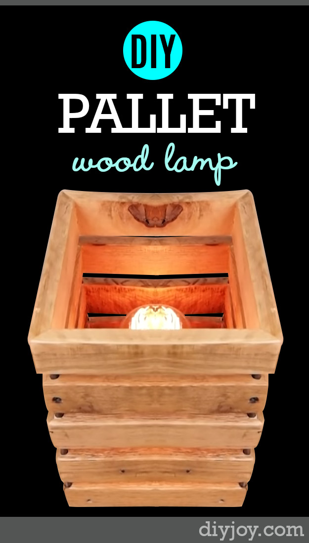 DIY Pallet Furniture Projects - Lighting from Wood Pallets - Handmade Pallet Lamp Tutorial - Cool Bedroom Furniture You Can Make On A Budget