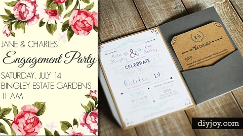 27 Fabulous DIY Wedding Invitation Ideas | DIY Joy Projects and Crafts Ideas