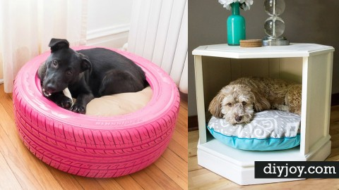 31 Creative DIY Dog Beds You Can Make For Your Pup | DIY Joy Projects and Crafts Ideas