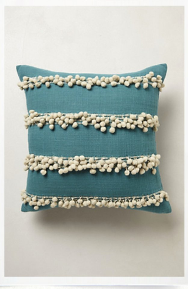 DIY Pillows and Creative Pillow Projects - Anthropologie Tassel Pillow Knockoff - Decorative Cases and Covers, Throw Pillows, Cute and Easy Tutorials for Making Crafty Home Decor - Sewing Tutorials and No Sew Ideas