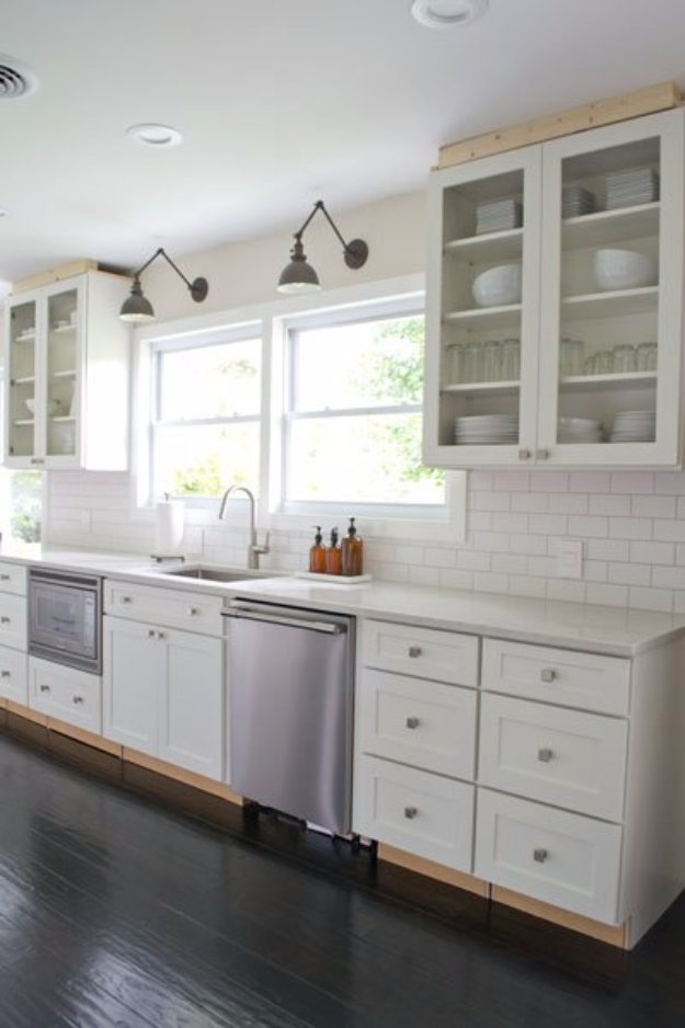 Home Improvement Hacks. - Attach Glass to Cabinet Doors - Remodeling Ideas and DIY Home Improvement Made Easy With the Clever, Easy Renovation Ideas. Kitchen, Bathroom, Garage. Walls, Floors, Baseboards,Tile, Ceilings, Wood and Trim #diy #homeimprovement