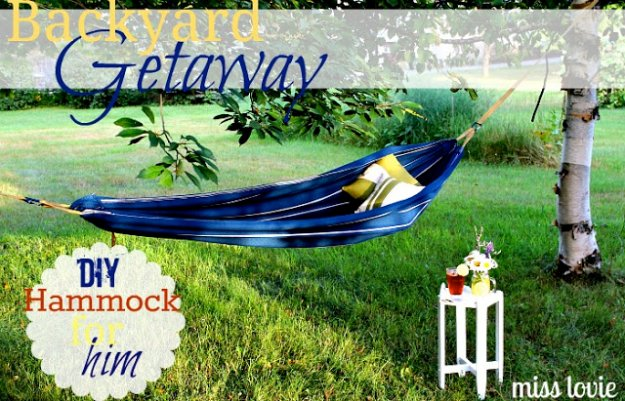 DIY Ideas to Get Your Backyard Ready for Summer - Backyard Getaway DIY Hammock - Cool Ideas for the Yard This Summer. Furniture, Games and Fun Outdoor Decor both Adults and Kids Will Enjoy