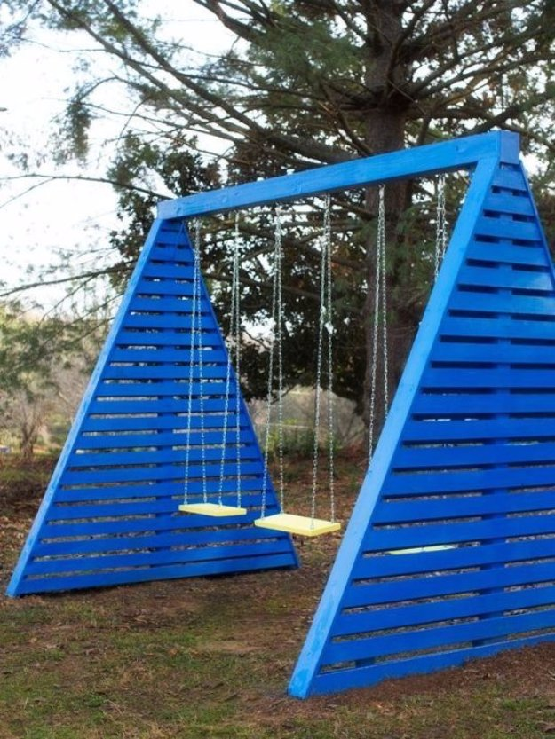 DIY Ideas to Get Your Backyard Ready for Summer - Build a Modern Swingset - Cool Ideas for the Yard This Summer. Furniture, Games and Fun Outdoor Decor both Adults and Kids Will Enjoy