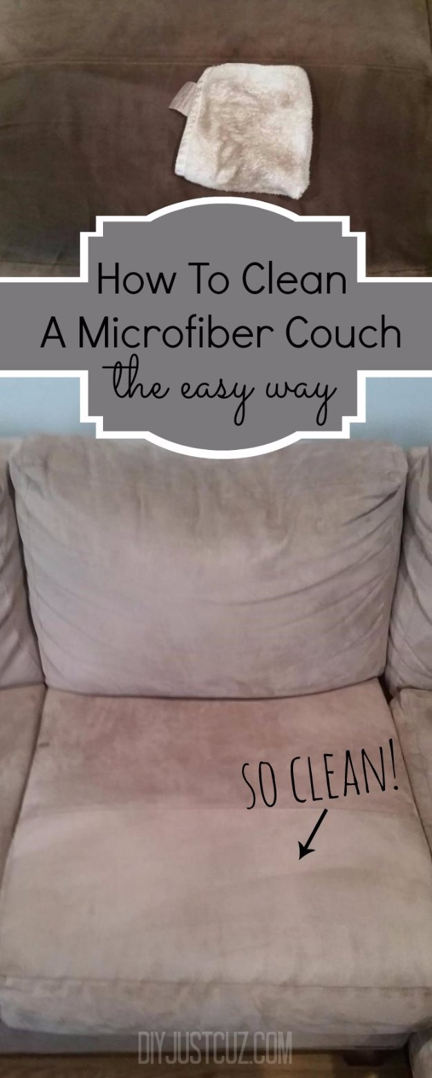 Cleaning Tips and Hacks To Keep Your Home Sparkling. Cleaning Micro Fiber Couch - Clever Ways to Make DYI Cleaning Easy. Bedroom, Bathroom, Kitchen, Garage, Floors, Countertops, Tub and Shower, Til, Laundry and Clothes